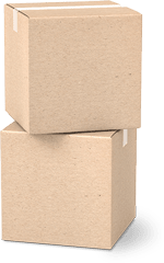 two parcel boxes stacked